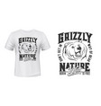 grizzly bear mascot t-shirt print mockup vector image