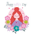 happy mothers day woman flowers delicate vector image vector image