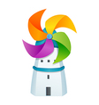 icon windmill and house vector image vector image