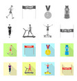 isolated object of sport and winner symbol vector image vector image