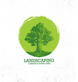 landscaping garden and home care creative organic vector image