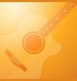 light glowing orange background with guitar vector image vector image