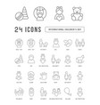 line icons international children day vector image vector image