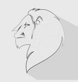 lion head profile icon vector image