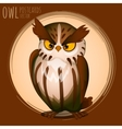 Menacing brown owl cartoon series vector image