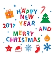 Merry Christmas and Happy New Year Set vector image
