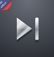next track icon symbol 3D style Trendy modern vector image vector image