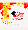 oriental chinese new year background with blossom vector image vector image