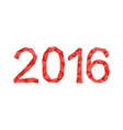 polygonal 2016 year number vector image