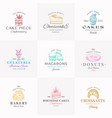 premium confectionary abstract signs symbols vector image