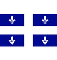 Quebec vector image