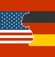 relationships between usa and germany vector image vector image