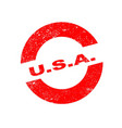 rubber ink stamp usa vector image vector image