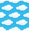 seamless pattern white fluffy clouds vector image vector image