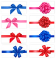 set with color bows vector image vector image