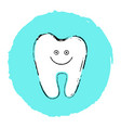 simple white smiling tooth vector image vector image