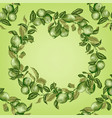 template with circle frame of citrus tree vector image