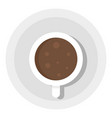 top view coffee cup icon flat style vector image vector image