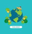 travel around world concept flat design vector image