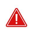 warning - icon warning red sign vector image vector image