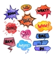 Watercolor Comics Bubble Set vector image vector image