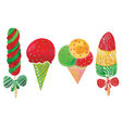 watercolor ice cream vector image vector image