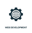 web development icon symbol creative sign from vector image vector image