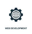 web development icon symbol creative sign from vector image