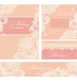 Wedding invitation with lace flowers vector image vector image