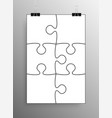 white puzzle pieces jigsaw background vector image vector image