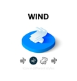 Wind icon in different style vector image vector image
