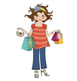 woman at shopping vector image