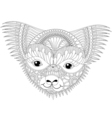 zentangle happy friendly koala face for adult anti vector image