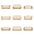 Set of stylish sofas vector image