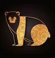bear mandala boho style vector image