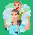 Dad Son Couple Cartoon vector image