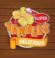 tamales delicious logo symbol sticker vector image