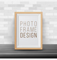 3d photo frame rectangular frame template vector image vector image