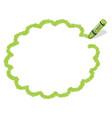 a green crayon message frame vector image