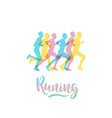 athletes runners vector image vector image