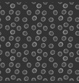 bacteria or virus seamless pattern hand drawn vector image