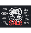 Black Friday lettering with percentage numbers vector image vector image