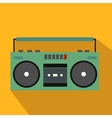 Boombox flat icon vector image vector image