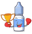boxing winner eye drops isolated with the vector image vector image