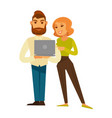 business people man and woman in casual with vector image vector image