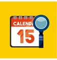 calendar and loupe icons vector image vector image