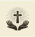 christianity symbol of jesus christ cross vector image vector image