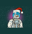 christmas astronaut with dreams of gingerbread vector image vector image