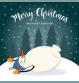 christmas card with cute snowman and wishes vector image vector image