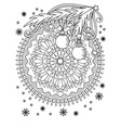 christmas coloring page vector image vector image